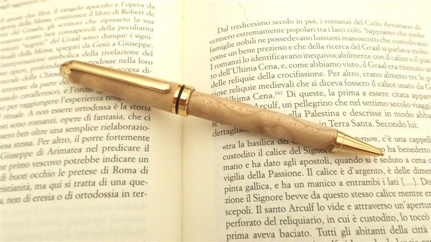 PENNA LAPIS - MATITA A MINE - in legno D'ACERO  no fimo idea regalo uomo