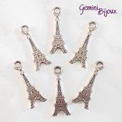 Charm Tour Eiffel piatta argentato 13x30
