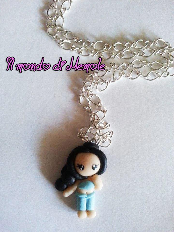 Collana Principessa Jasmine (la lampada di Aladino)