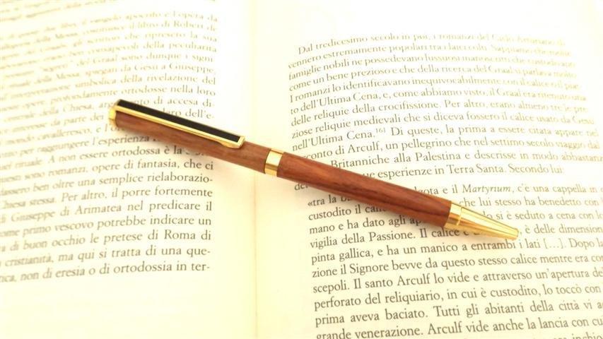 PENNA BIRO -  - in legno di CILIEGIO   no fimo idea regalo comunione cresima laurea - IDEA REGALO NATALE