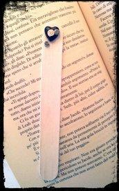 Segna libro in Fimo Cuore e rosellina