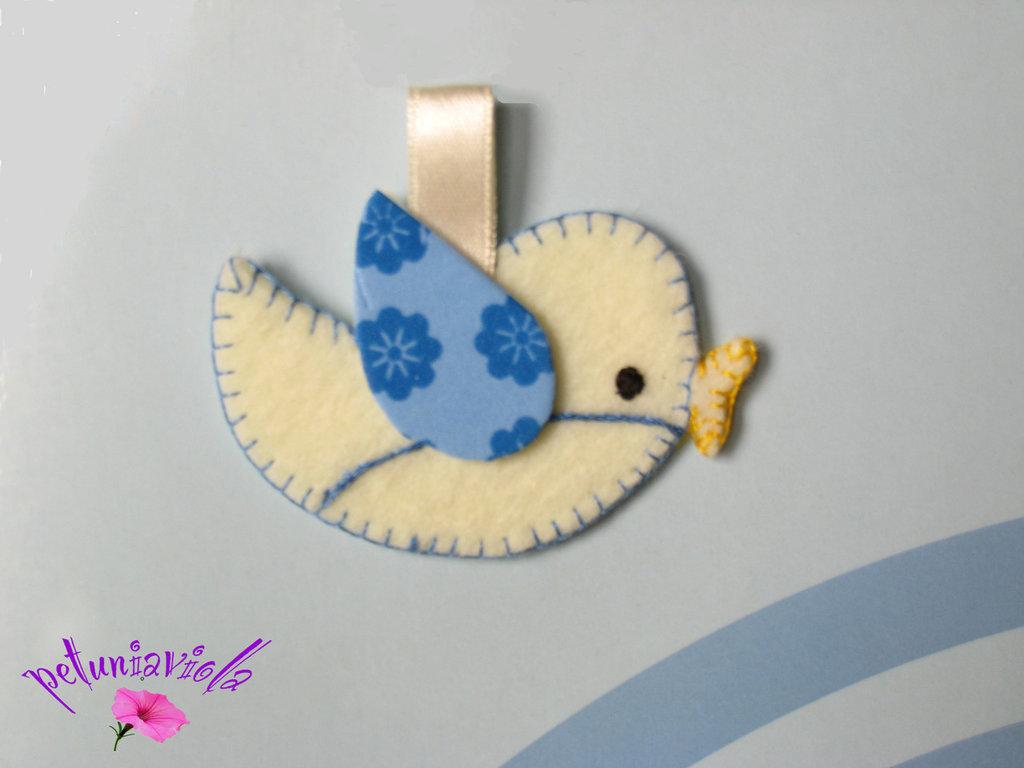 Uccellino bomboniera per bambino