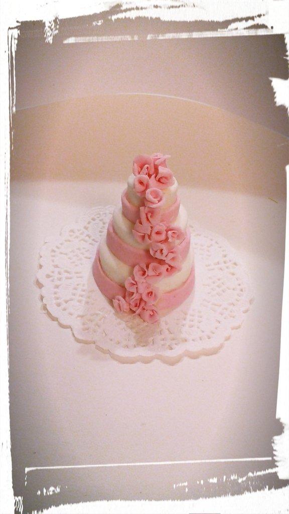 minicake segnaposto, rose