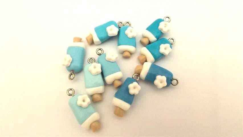 Un  CIONDOLO  a scelta tra questi GELATINO azzurro    e sfumature     - per orecchini, bracciali fimo