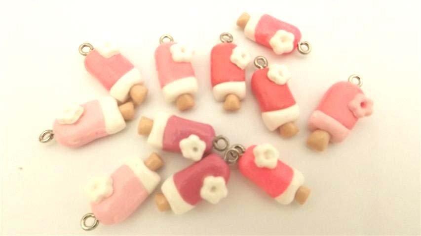 Un  CIONDOLO  a scelta tra questi GELATINO rosa     e sfumature     - per orecchini, bracciali fimo