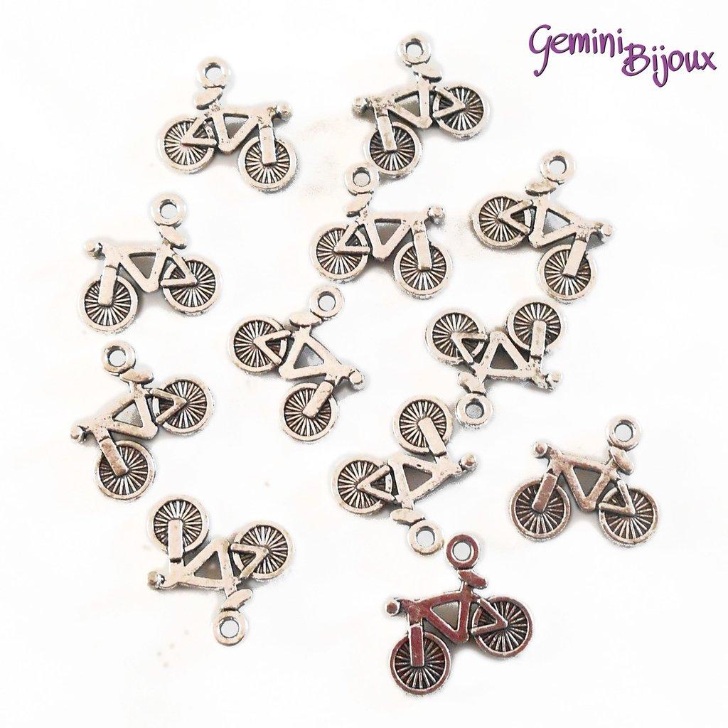 Charm Bicicletta argentato 15x13