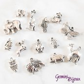 Lotto 10 charms animali mix
