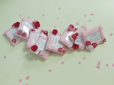 50 Cornici in feltro rosa e rosso: Bomboniere, calamite, idee regalo per ricordi che arredano!