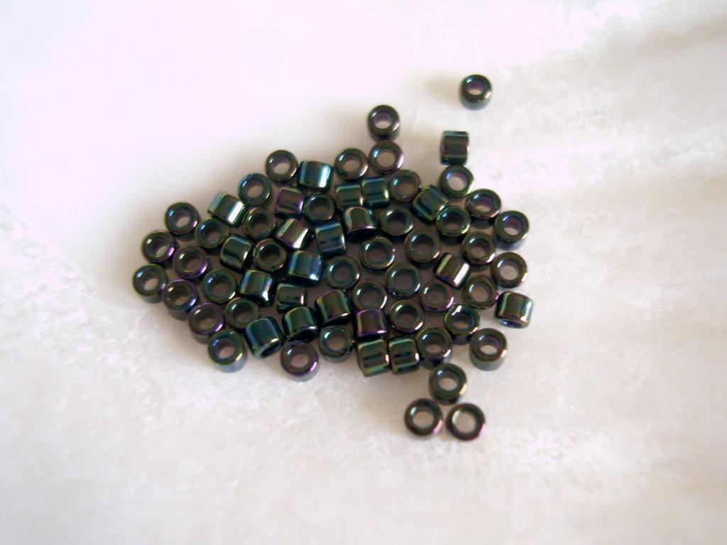 Miyuki Delicas 11/0 Green Iris Metallized