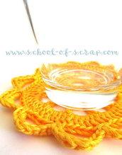 """Pattern - spiegazione per SOTTOBICCHIERE COASTER """"clean & simple"""" a uncinetto crochet (idea regali di Natale)"""