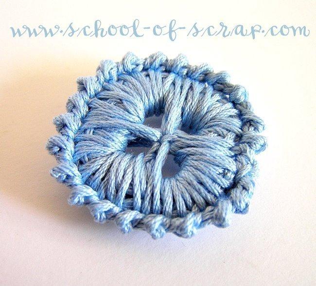 """Bottoni a 4 fori da fare a crochet """"modello Alessia"""" - uncinetto - Pattern schema PDF"""