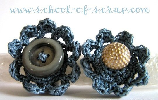 "Schema Pattern per realizzare gli anelli all'uncinetto crochet ""Flower Power Ring"" - PDF"