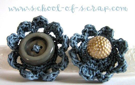 """Schema Pattern per realizzare gli anelli all'uncinetto crochet """"Flower Power Ring"""" - PDF"""