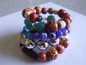 bracciale multicolore