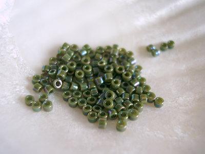 Miyuki Delicas 11/0 Green Avocado AB Metallized