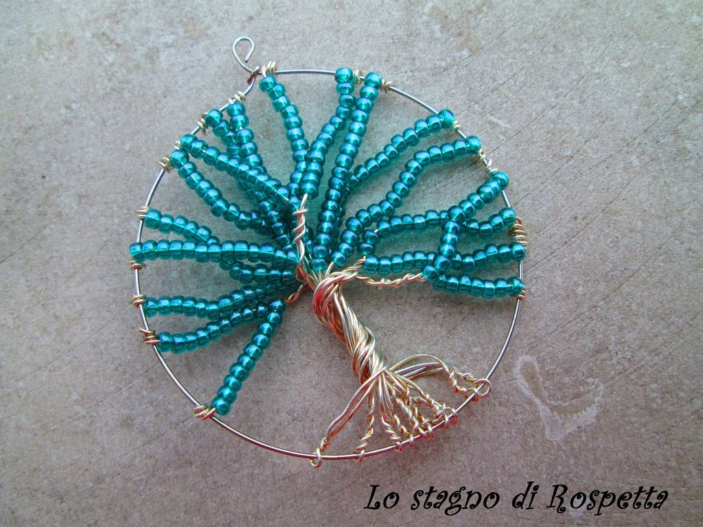 Pendente turquoise tree of life