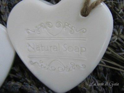 Cuori di sapone fatto a mano alla lavanda