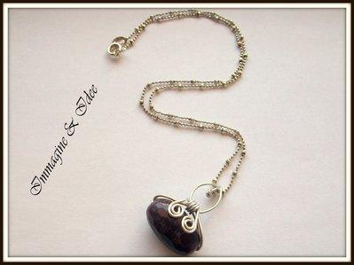 Collana in argento 925 e ciondolo borsetta