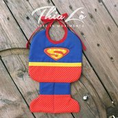 Bavaglino Superman in Cotone