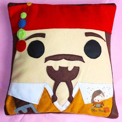 """Fodera in pannolenci per cuscino """"Jack Sparrow"""""""