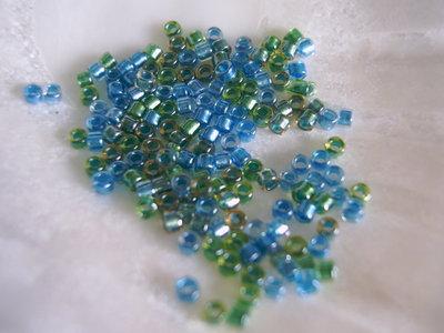 Miyuki Delicas 11/0 Sparkling Carribbean Blue Green Mix