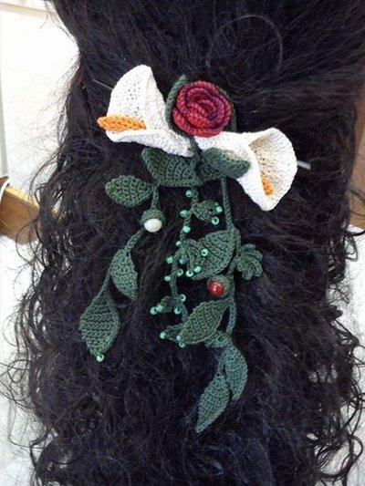 Fermaglio per capelli in cotone