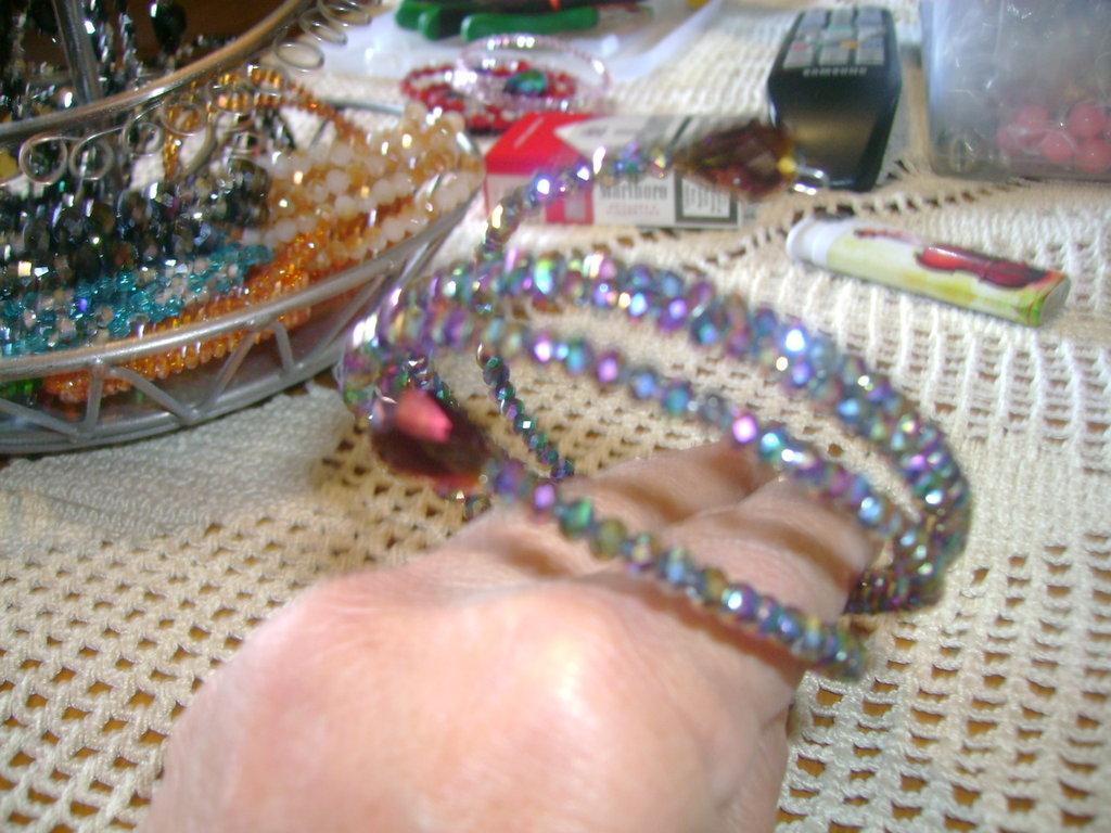 bracciale armonico in acciaio e cristalli