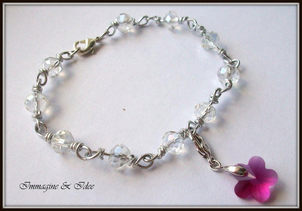 Bracciale rosario con ciondolo Swarovski