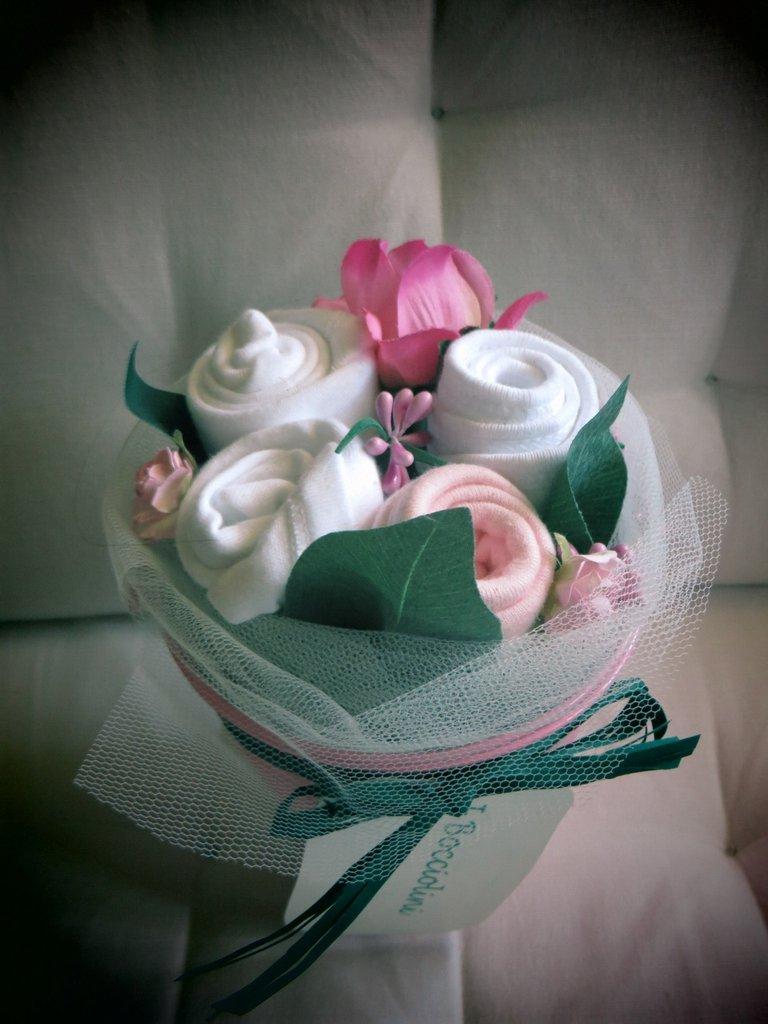 """idea regalo nascita """"Bocciolino bimba alla rosa"""""""