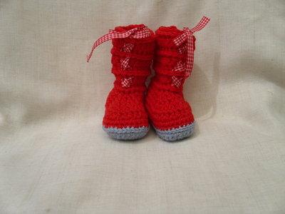 Stivaletti per neonato rossi