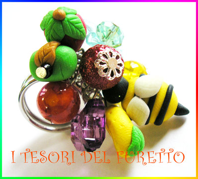 "Anello ""Vespina"" Ape fimo cernit kawaii estate idea regalo"