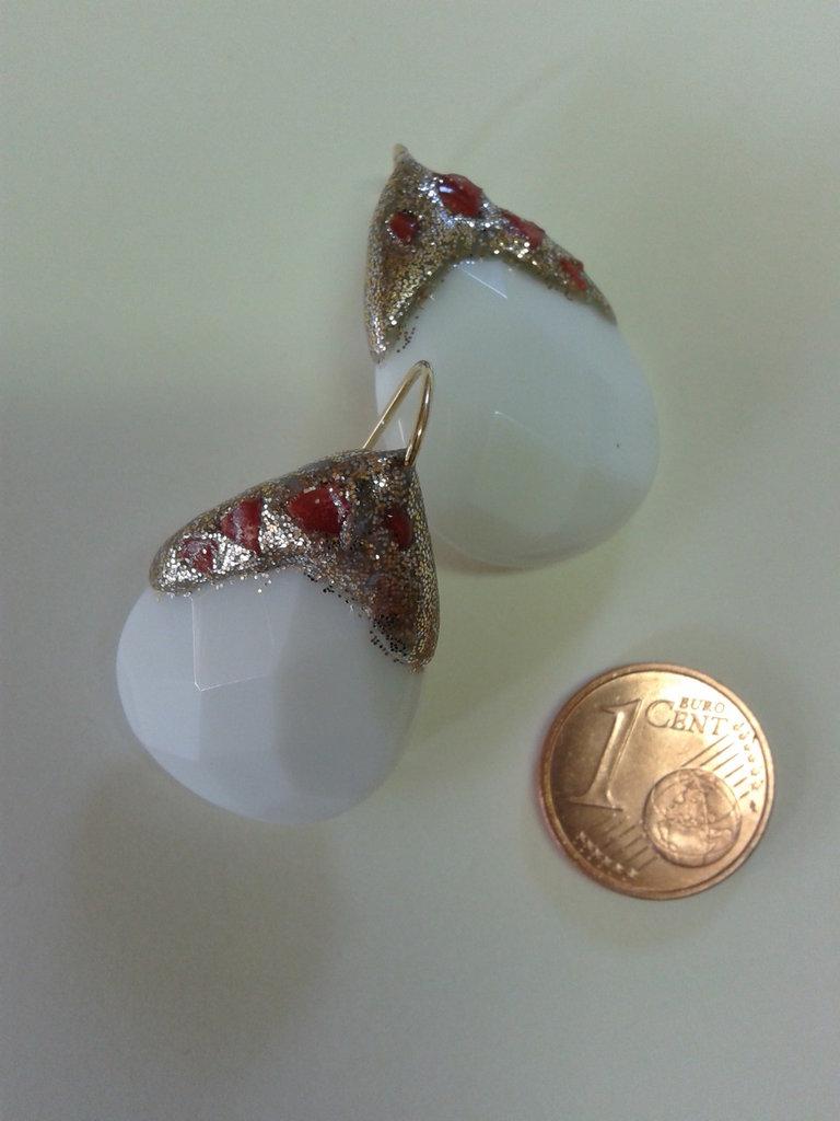 orecchini agata bianca