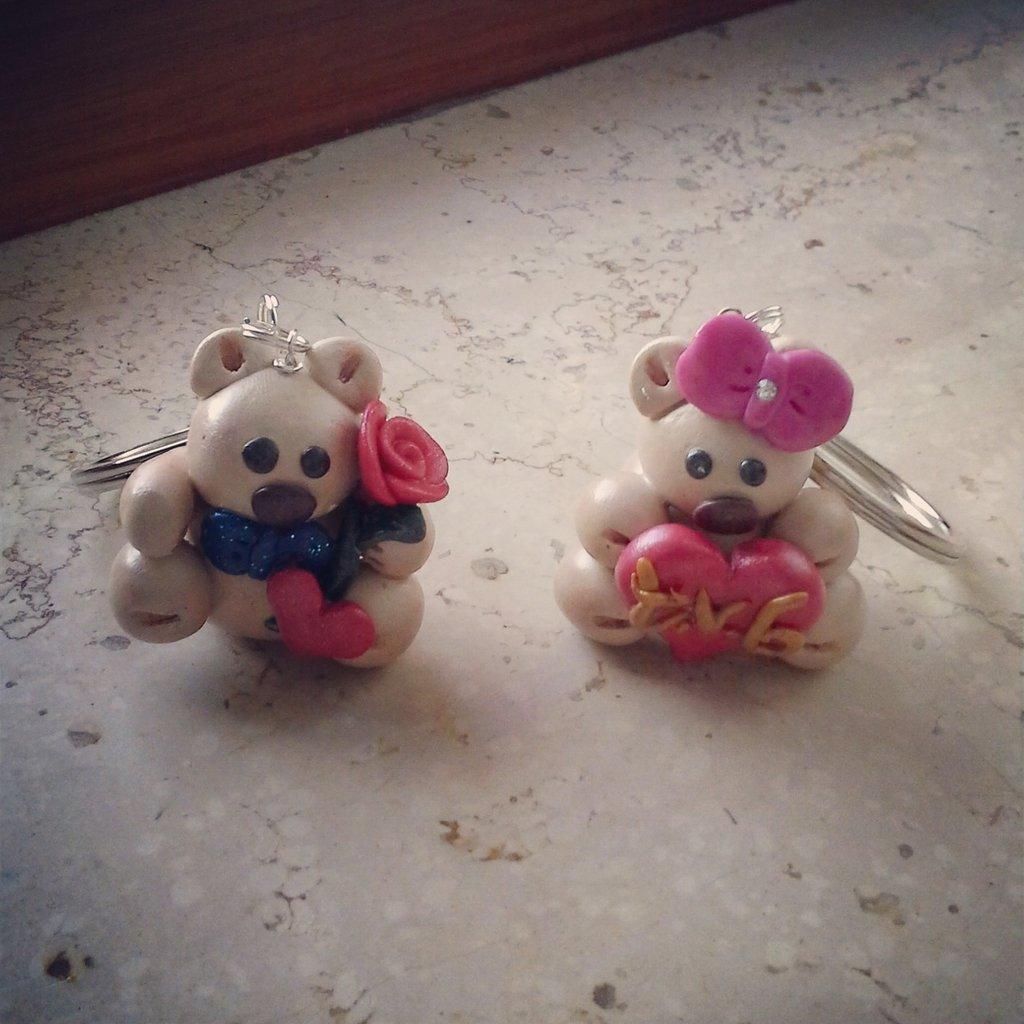 portachiavi orsetto romantico mascio e femmina