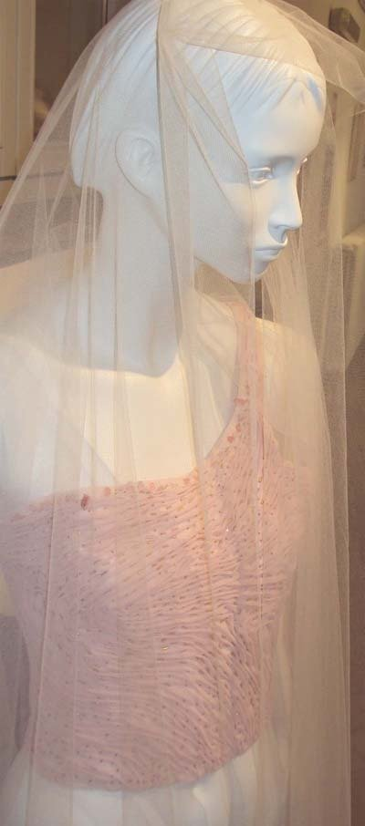 CORSET di Chiffon rosa pallido.