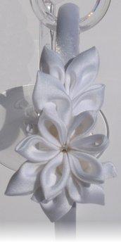Cerchietto bianco con decoro, da cerimonia