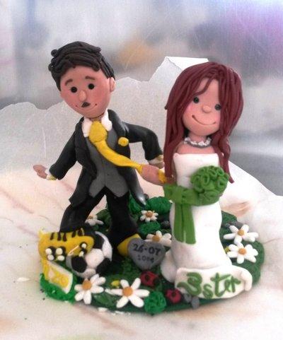 CAKE TOPPER SOPRATORTA PERSONALIZZATI SPOSI MATRIMONIO NOZZE PUPAZZETTI PER TORTA