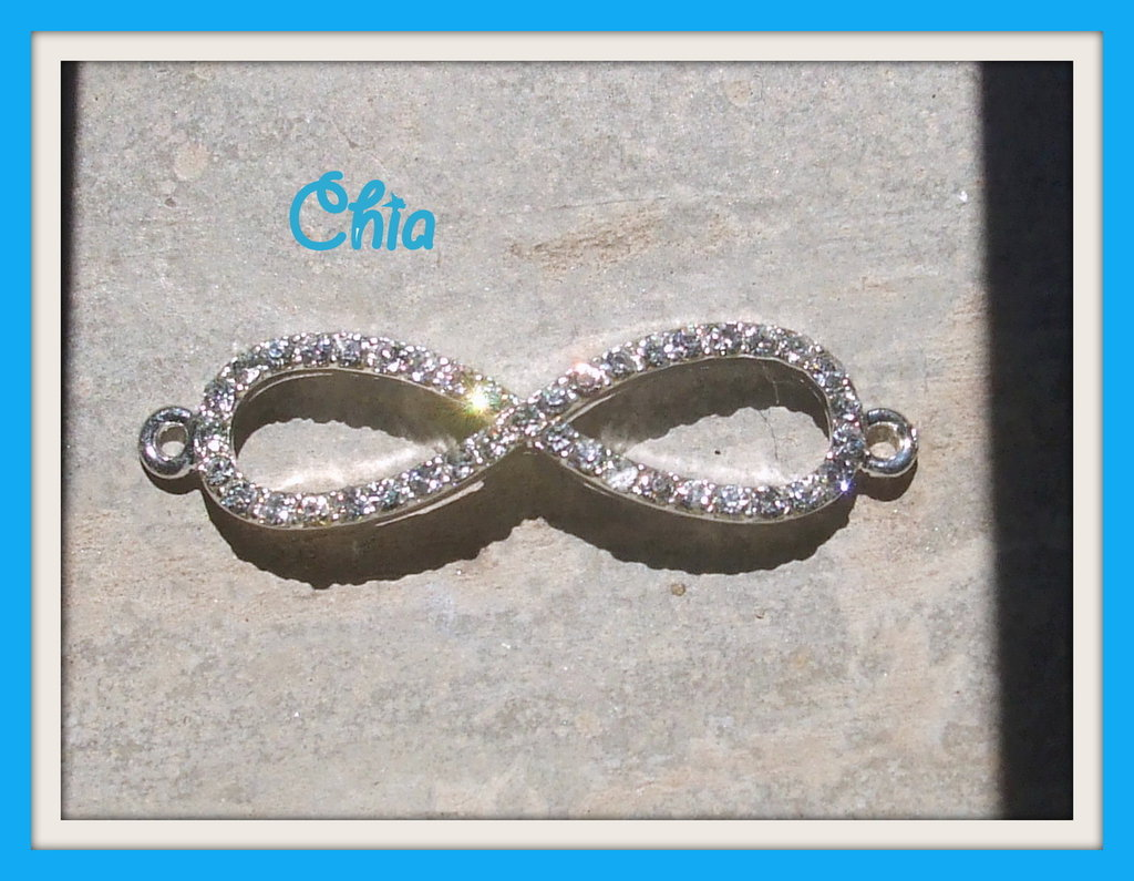 1 connettore infinito link strass bianchi
