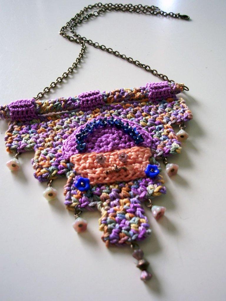 INCAS - Collana Uncinetto - Handmade Crochet necklace