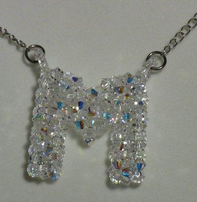 Lettera M in cristallo swarovski