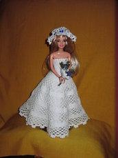 barbie abito da sposa uncinetto