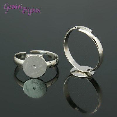 Base anello argentata regolabile
