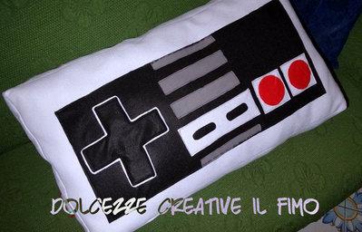 Black Friday MAXI Cuscino Joystick Retro Nintendo idea regalo gamer geek  - HANDMADE -