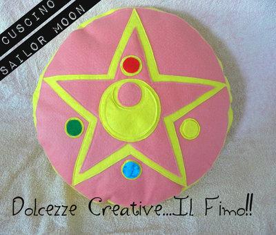 Black Friday Cuscino Cristallo D'argento Sailor Moon Feltro idea regalo  - HANDMADE -