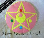 Cuscino Cristallo D'argento Sailor Moon Feltro idea regalo  - HANDMADE -