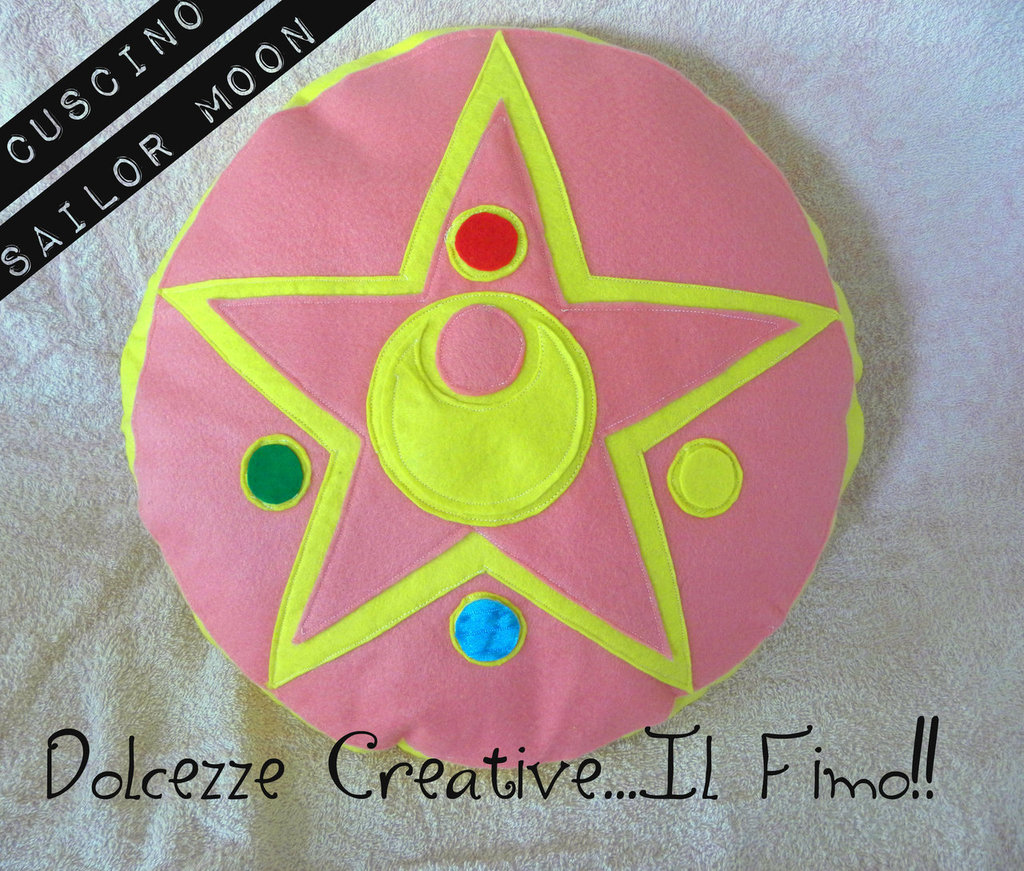 Cuscino Cristallo D'argento Sailor Moon Feltro idea regalo  - HANDMADE -