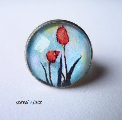 Anello vaso di Tulipani