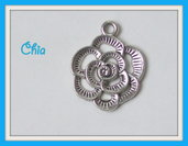 6 charms fiore 24x20mm