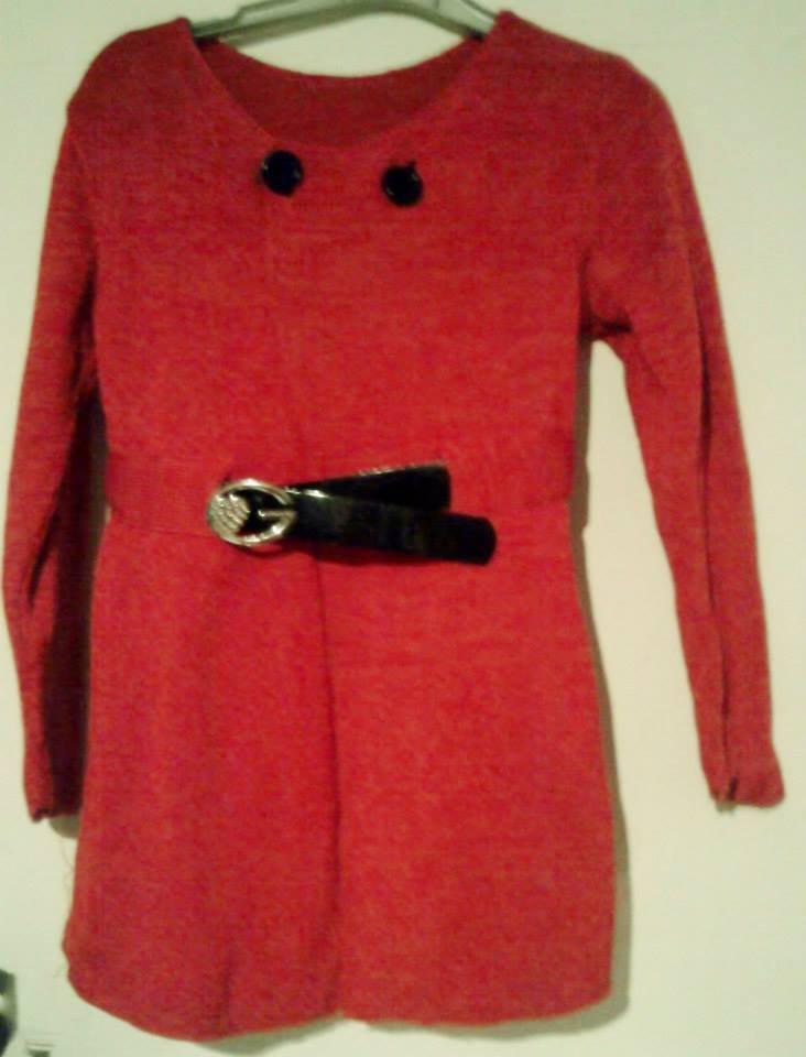 giacca bimba lunga cotone lana maglia