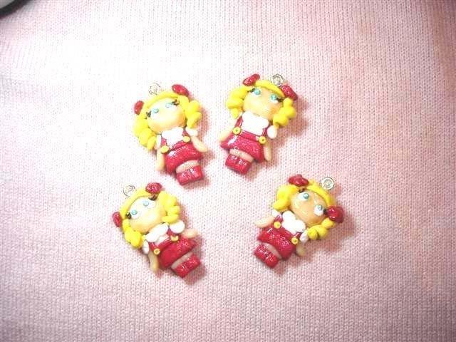 UN CIONDOLO A SCELTA - REVIVAL ANNI 80 -  MINI CANDY CANDY     - fimo charms per orecchini bracciali collana portachiavi