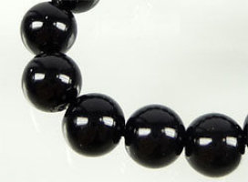Lotto 20 perle in verto cerato 8mm NERO